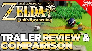 Zelda Links Awakening Switch - Trailer Review & Comparison