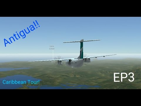 Infinite flight | (Caribbean Tour) | St Kitts - Antigua | Dash-8 q400 | SUMMER!