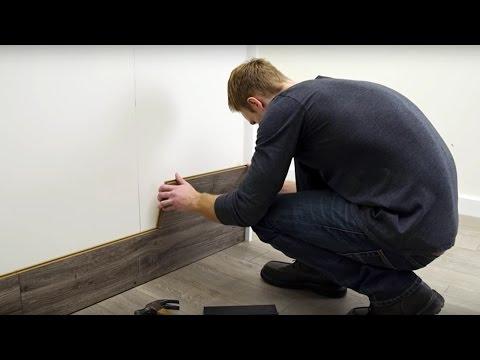 How to Horizontally Install Pergo Laminate Flooring On Your Walls