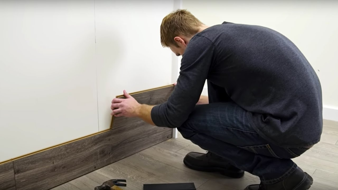 How To Horizontally Install Pergo Laminate Flooring On Your Walls Youtube