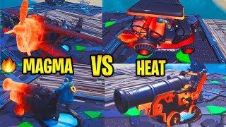 *NEW* LEAKED MAGMA vs. HEAT Wrap In-Game SHOWCASE! - Fortnite