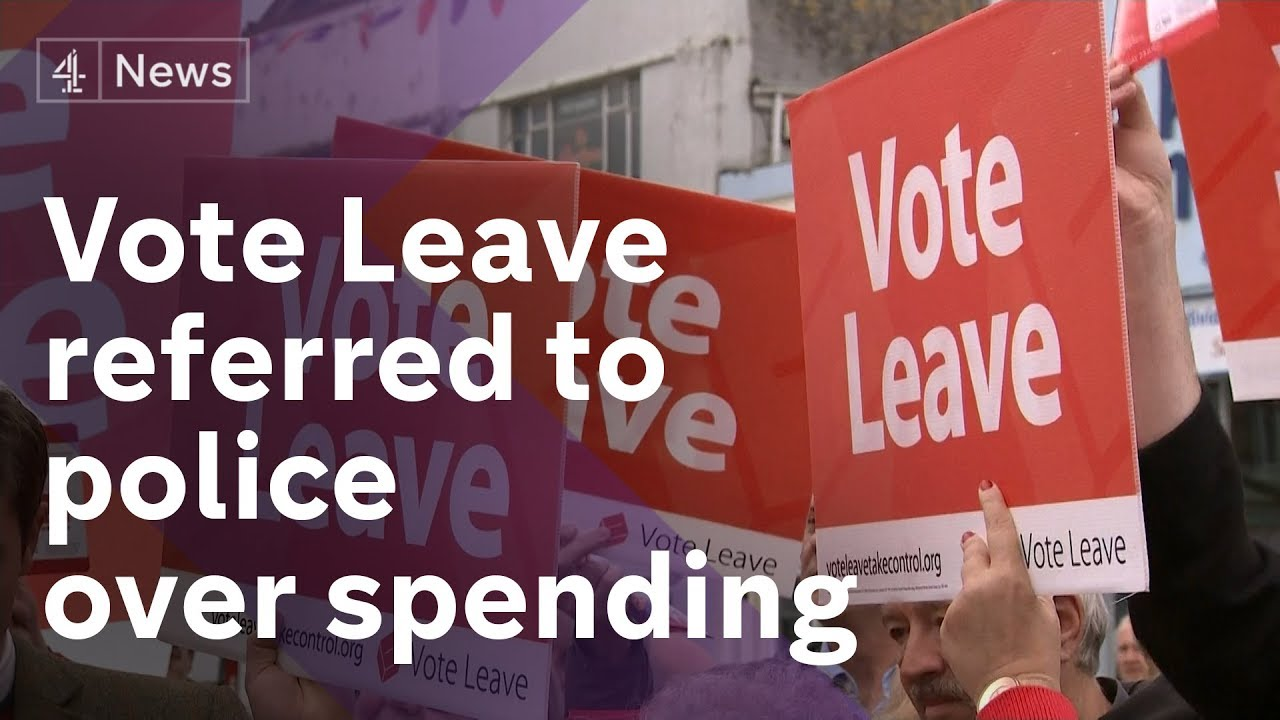 Vote Leave fined and referred to police over referendum spending