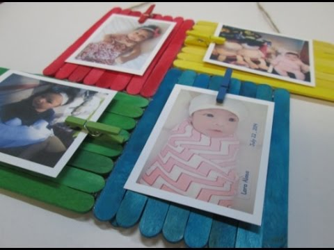 DIY 42 Colorful Frame From Ice Cream Sticks