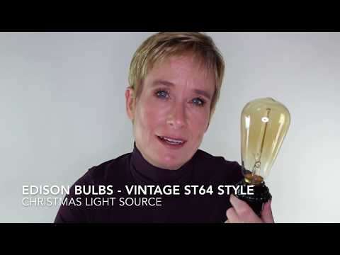 Vintage ST64 Style Edison Bulbs