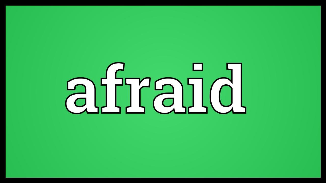 What is the meaning of afraid in urdu