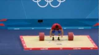 London 2012 - Weightlifting - Mens 94 Kg - Clean and Jerk Part 1
