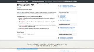 web crypto tutorial  aes  encryption decryption