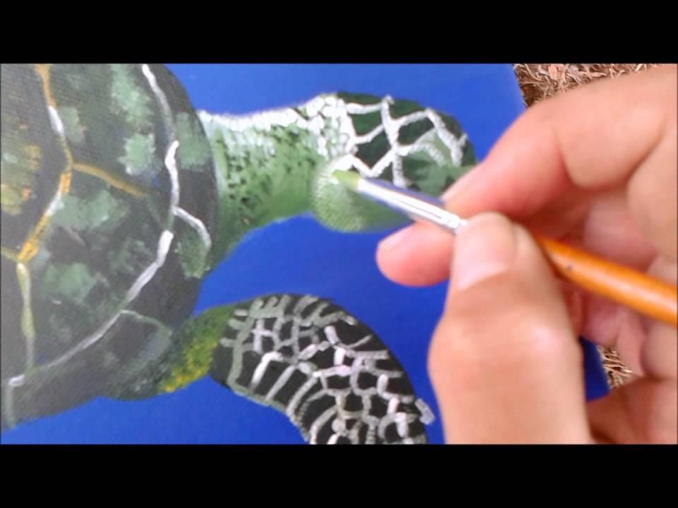 Pintura A Acrilica Como Pintar Tartaruga Marinha How To Paint