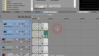 Видео уроки Sony vegas / создаем группы слоев