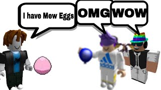 Scammer Just Got Trolled (Mew Egg Scam) | PBB | Roblox