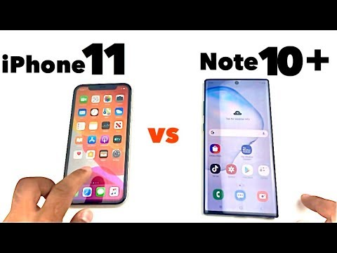 IPhone 11 Vs Note 10+   Speed Test & Size Comparison