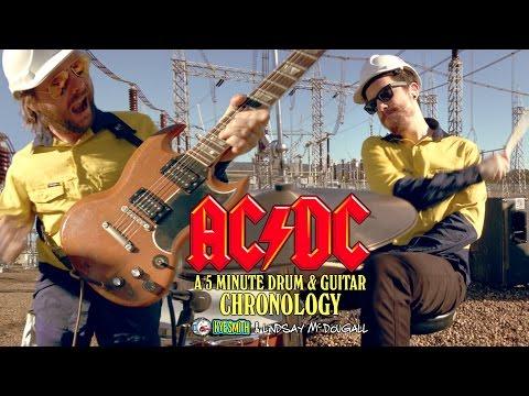 AC/DC: A 5 Minute Drum & Guitar Chronology - Kye Smith & Lindsay McDougall [4K]