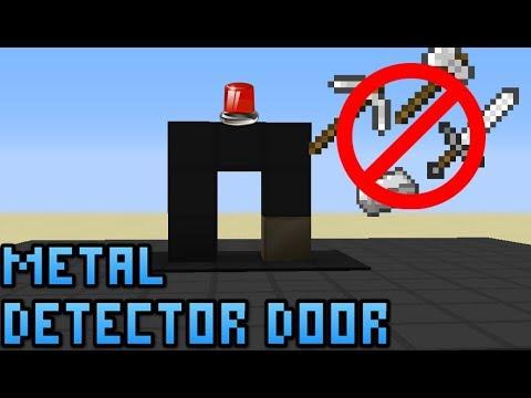 Metal Detector Door In Minecraft Youtube