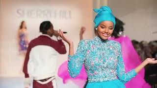Hijab wearing supermodel HALIMA ADEN RUNWAY COLLECTION