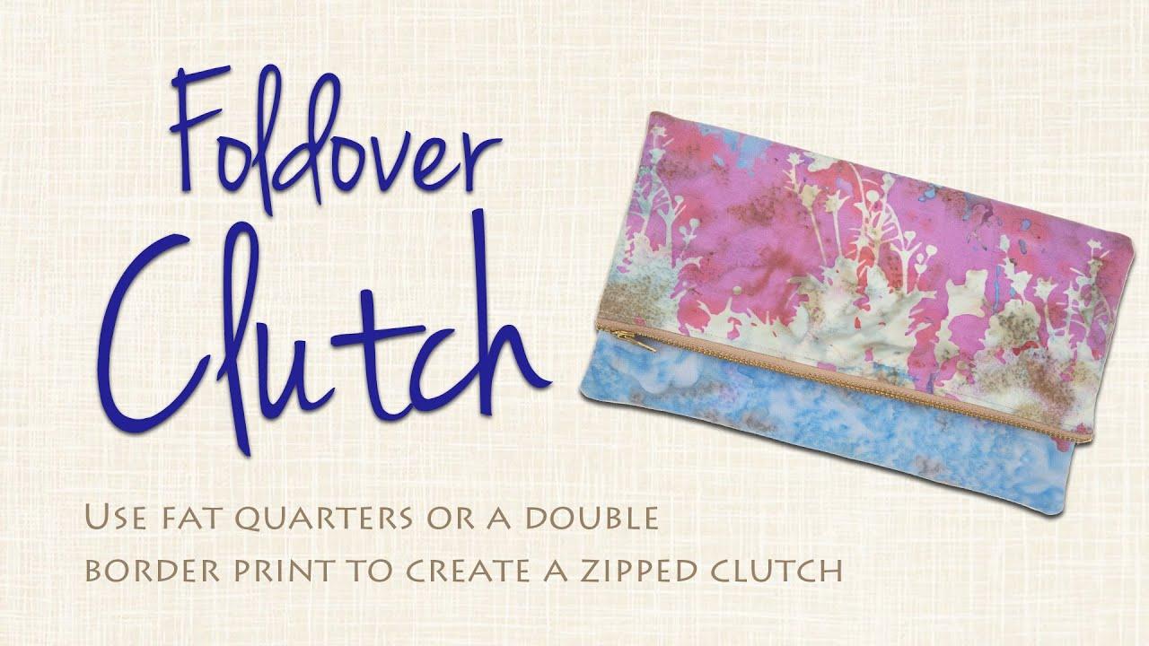 3fdb0097a41 Easy Foldover Clutch DIY: Sew it Yourself! - YouTube