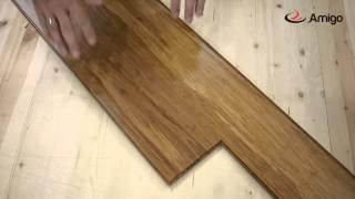 видео Массивная доска amigo бамбук