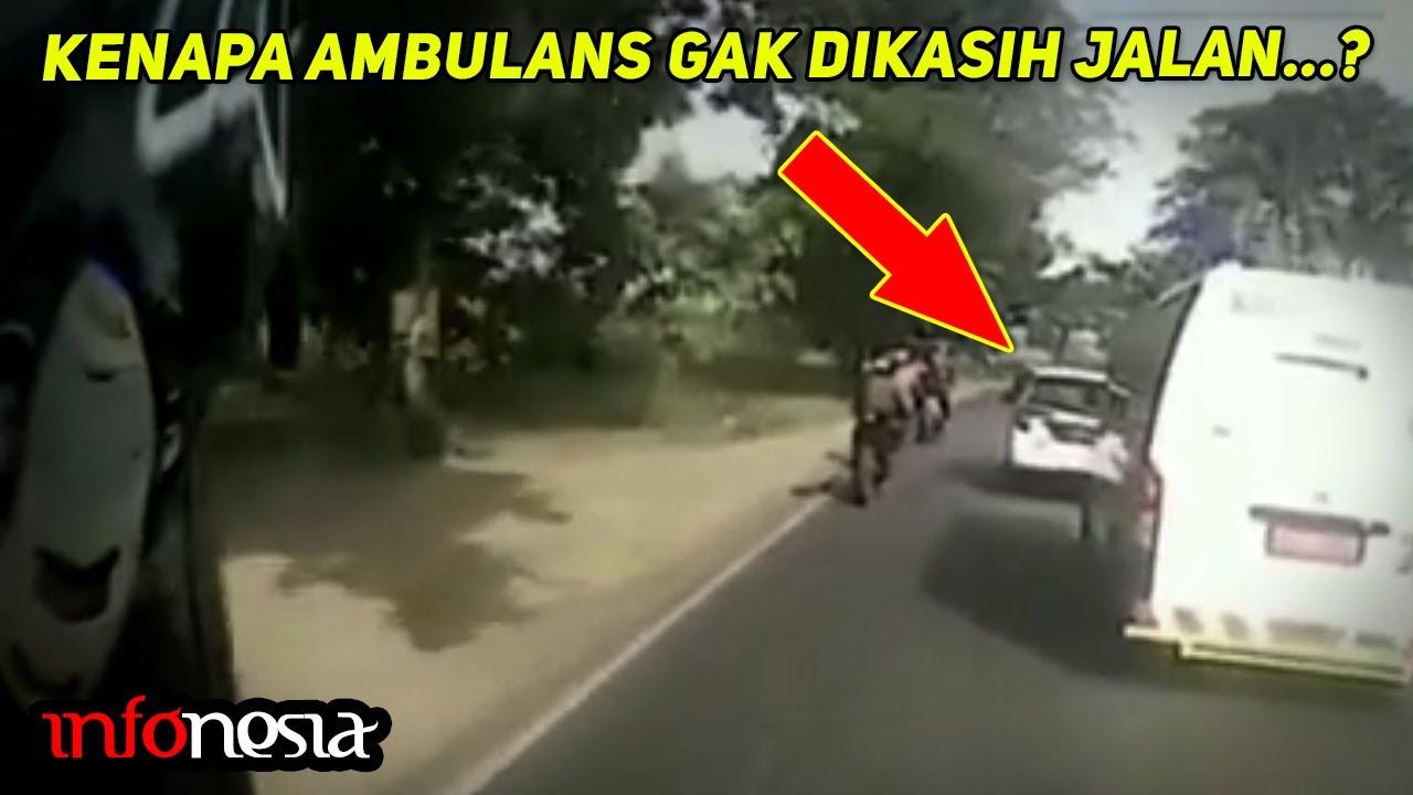 CUMA DI INDONESIA? Inilah Kejadian Ambulans Tidak Diberi Jalan Yang Terekam Kamera