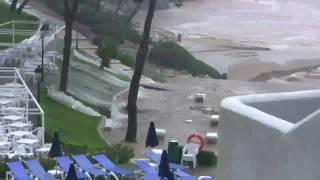 Unwetter Cala d'Or Mallorca 28.09.09