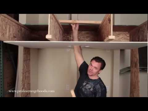 How To Install Weight-Bearing Ceiling Support - Reinforcing Sheetrock to Support a Range Hood