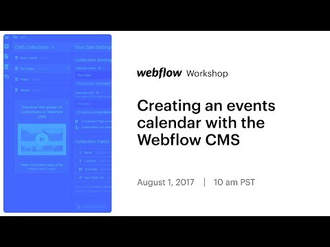 Webflow Workshop #90: Creating an events calendar with the Webflow CMS