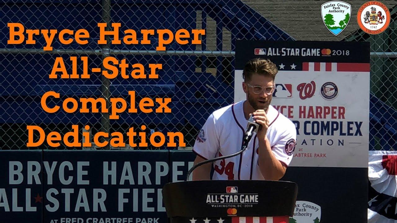 bc2b45e6d072 Bryce Harper All-Star Complex Dedication Ceremony (July 16, 2018 ...