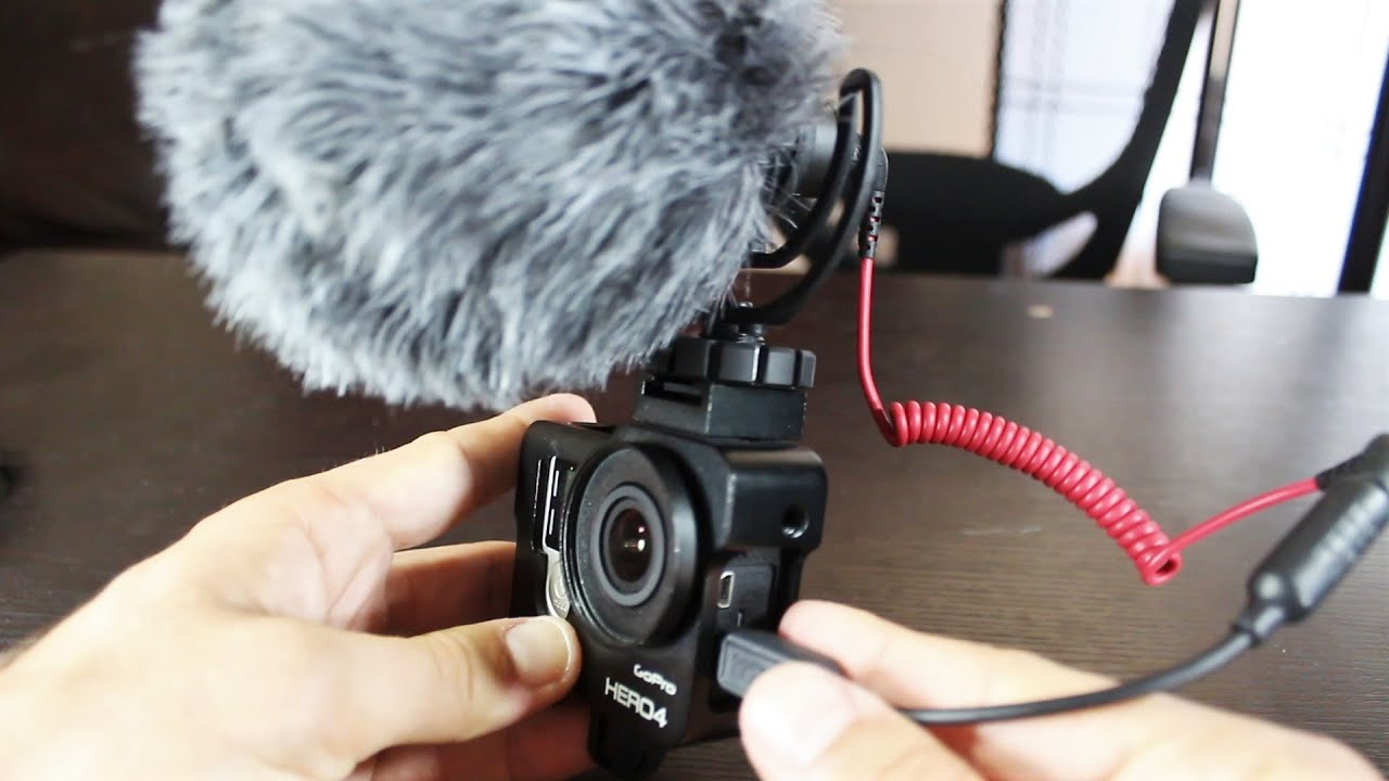 Vlog camera with mic