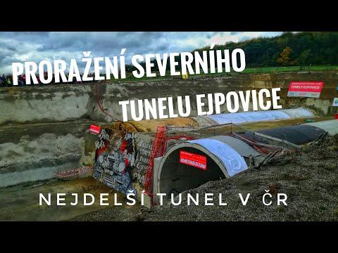 Prorážka severního tunelu Ejpovice