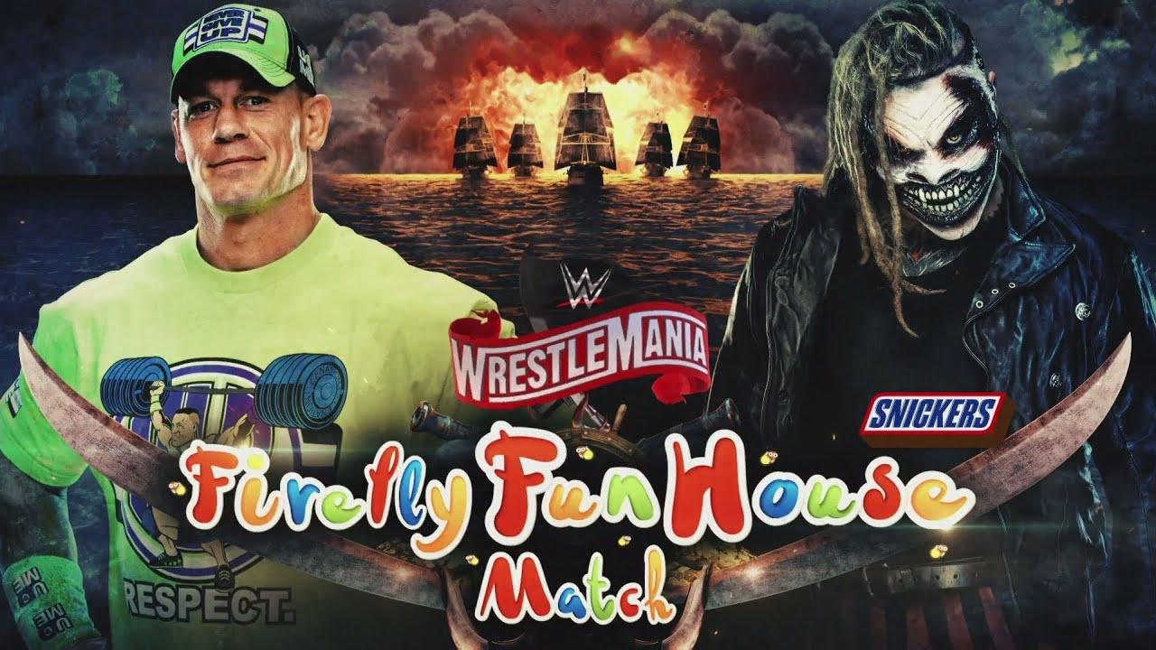WWE WrestleMania 36 - John Cena vs ''The Fiend'' Bray Wyatt - YouTube