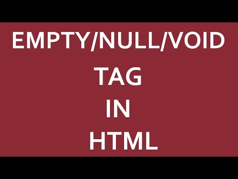 HTML: - What Is Empty/Null/void Tags In Html?