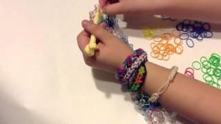צמיד פשוט של ריינבו לום   -     Rainbow Loom Simple Bracelet