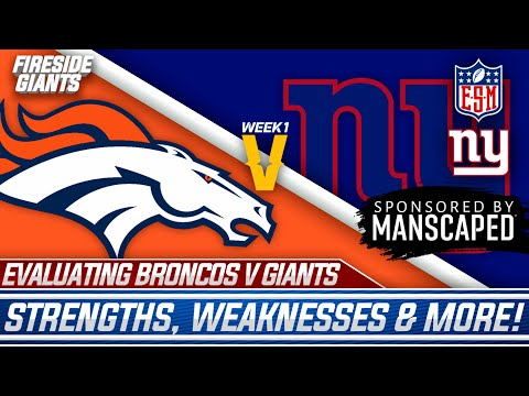 Breaking Down The New York Giants Vs. Denver Broncos WEEK 1 Matchup | Strengths, Weaknesses, More!