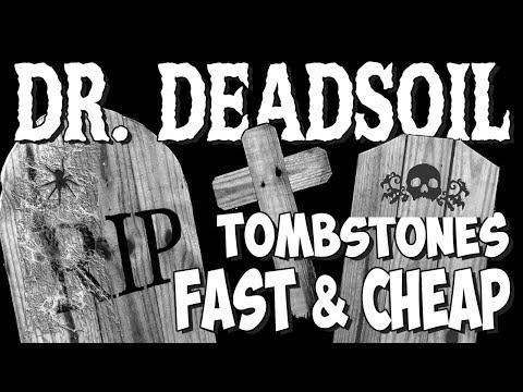 DIY - Tombstones - Easy, Fast & Cheap/Wood - Doctor Deadsoil