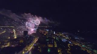 Самарский салют 9 мая 2017. День победы. Съемка с коптера