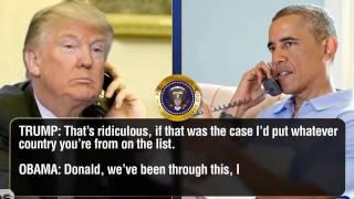 Trump calls to Obama