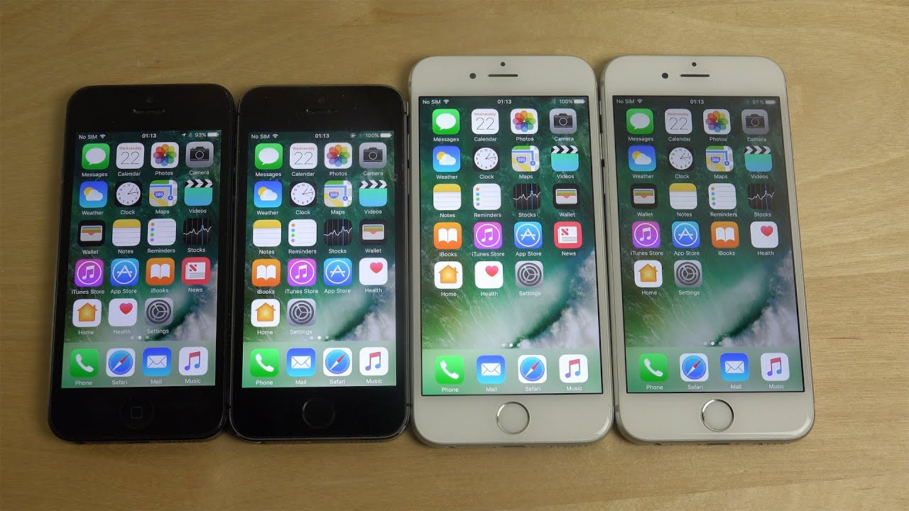 iphone 6 vs 5 iphone 6s vs iphone 6 vs iphone 5s vs iphone 5 ios 10 15110