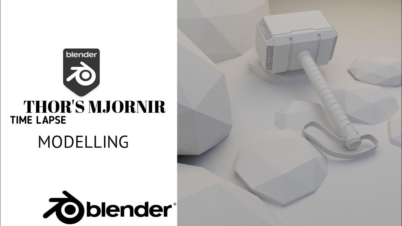 Modelling Thor's Mjornir in Blender 2.9   Blender time lapse process video