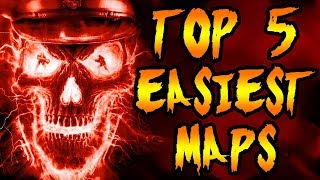 Top 5 EASIEST MAPS in Zombies! Call of Duty Black Ops 3, Black Ops 2, BO & WAW Zombies Gameplay