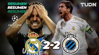 Resumen y goles | Real Madrid 2 - 2 Club Brujas | Champions League - J2 - Grupo A | TUDN