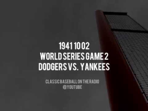 1941 10 02 World Series Game 2 Dodgers vs Yankees Radio Broadcast OTR