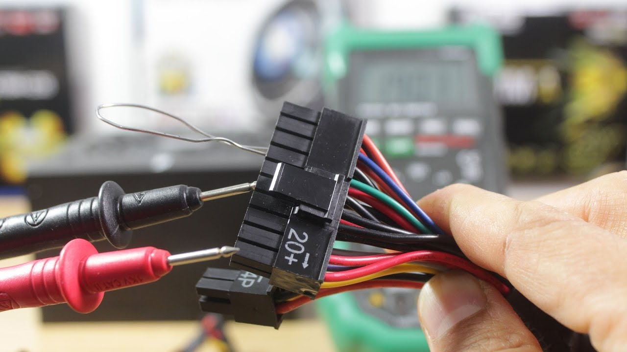 how to test a power supply unit psu with a digital multimeter advanced troubleshooting [ 1280 x 720 Pixel ]
