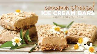 Cinnamon Streusel Ice Cream Bars  HCLF vegan