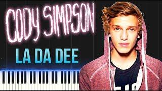 Cody Simpson - La Da Dee (Piano Tutorial Synthesia)
