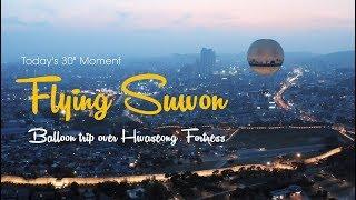 Flying Suwon Balloon trip over Hwaseong Fortress