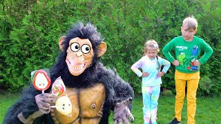 Ksynya and story with monkey