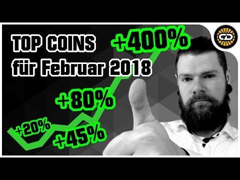 Top Coins für Februar 2018 - Knallharte Profite! + News der Woche!