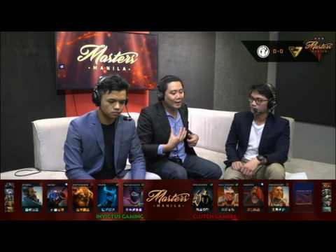 Invictus Gaming vs Clutch Gamers | The Manila Masters | Bo3 | Filipino Coverage | Game 1