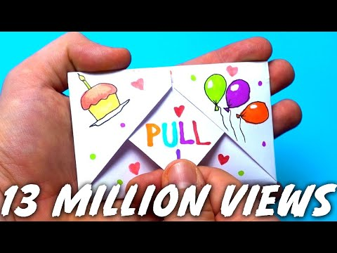 DIY Pull Tab Origami Envelope Card | Letter Folding Origami | birthday Card | Greeting Card |