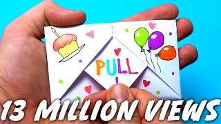 DIY Pull Tab Origami Envelope Card | Letter Folding Origami | birthday Card | Greeting Card |