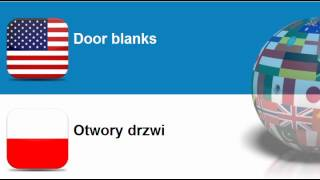 Learn Polish vocabulary #Topic = Windows, doors and related items