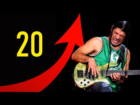 20 levels of Metallica BASS (Jason Newsted & Robert Trujillo)